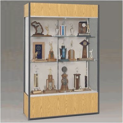 Fleetwood Trophy and Art Display Case with Full Width Shelves