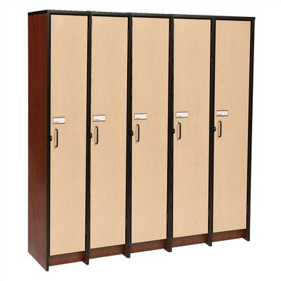 "Fleetwood 60"" H Five Unit Laminate Locker"