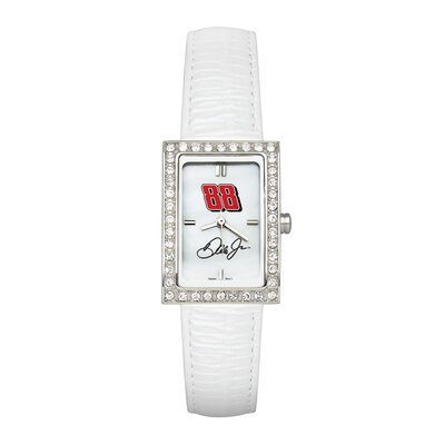 NASCAR Driver Ladies Fashion Watch with White Leather