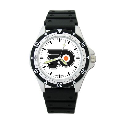 NHL Team Logo Watch with Rubber Strap