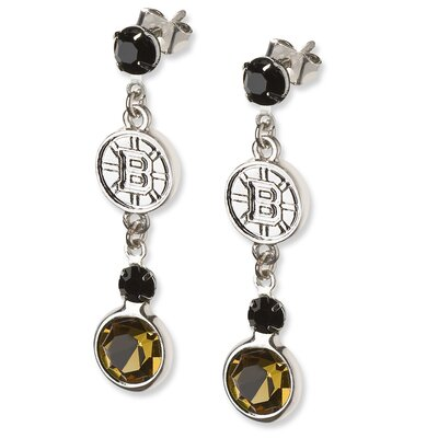 LogoArt® NHL Logo Crystal Earrings