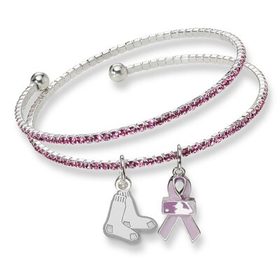LogoArt® MLB 2013 Breast Cancer Awareness Support Charm Bracelet