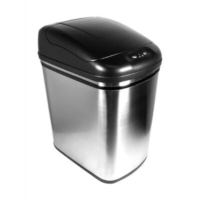 Nine Stars 6.3 Gallon Stainless Steel Infrared Trash Can