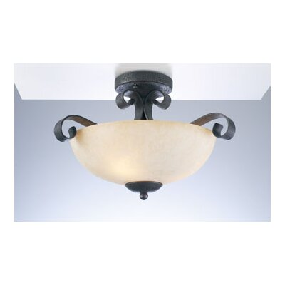 PLC Lighting Somerset Semi Flush Mount