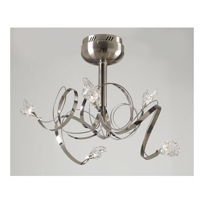 PLC Lighting Ribbon 5 Light Semi Flush Mount