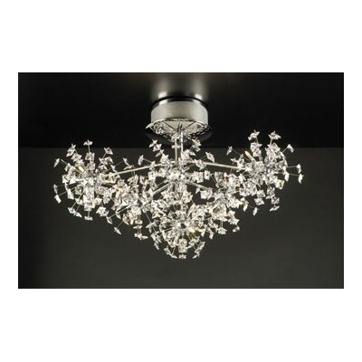 PLC Lighting Firework 36 Light Semi Flush Mount