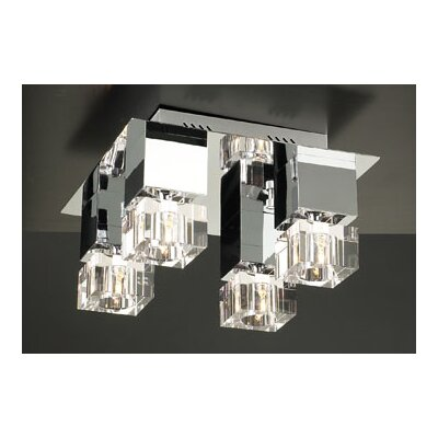 PLC Lighting Charme 4 Light Semi Flush Mount