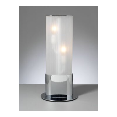 "PLC Lighting Flambeau 17.5"" H Table Lamp with Drum Shade"