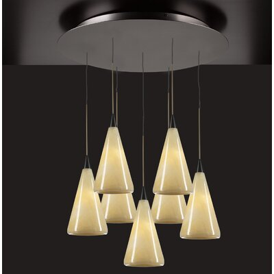 PLC Lighting Caroline 7 Light Mini Pendant