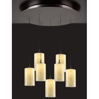 PLC Lighting Cylindro 7 Light Mini Pendant