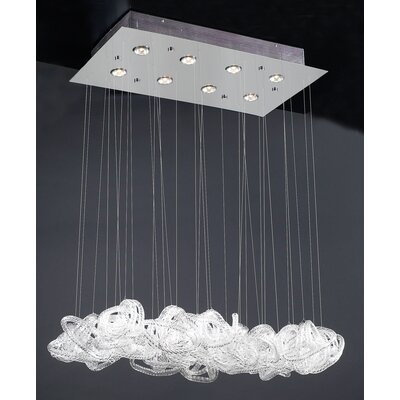 PLC Lighting Elegance 8 Light Pendant