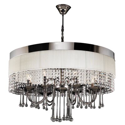 PLC Lighting Elisa 8 Light Crystal Chandelier