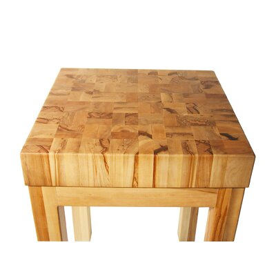Bradley Brand Furniture Saddle Creek Prep Table with Butcher Block Top