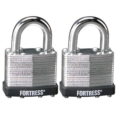 Laminated Steel Security Padlock (Set of 2)
