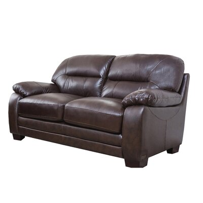 Broadway Italian Leather Loveseat