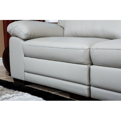 Abbyson Living Stewart Leather Modular Sectional