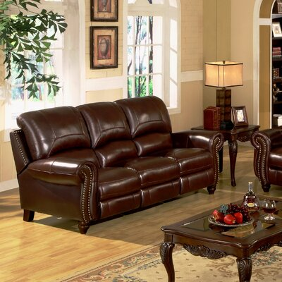 abbyson living charlotte leather reclining sofa reviews wayfair