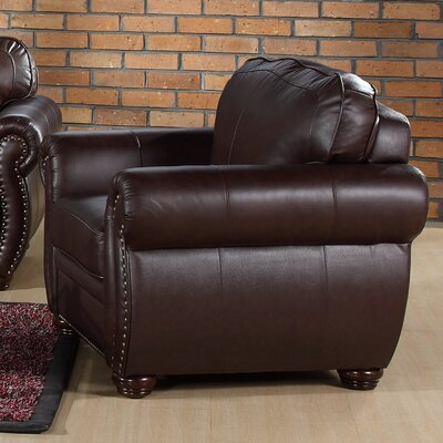 Abbyson Living Palazzo Italian Leather Chair