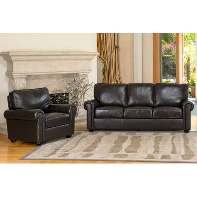 Abbyson Living Bliss Leather Sofa And Chair Set Amp Reviews