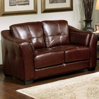 Ashburn Italian Leather Loveseat