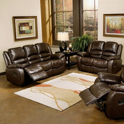 Abbyson Living Providence Leather Sofa And Loveseat Set Reviews Wayfair