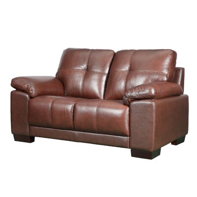 Florence Leather Loveseat