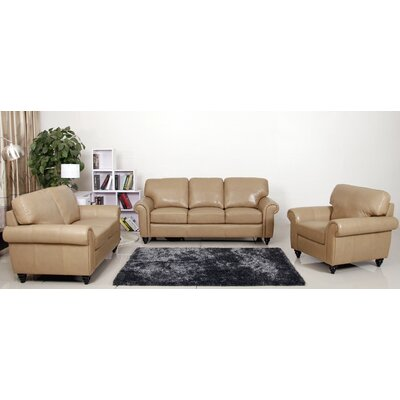 Abbyson Living Parks Premium Sofa, Loveseat and Arm Chair Set