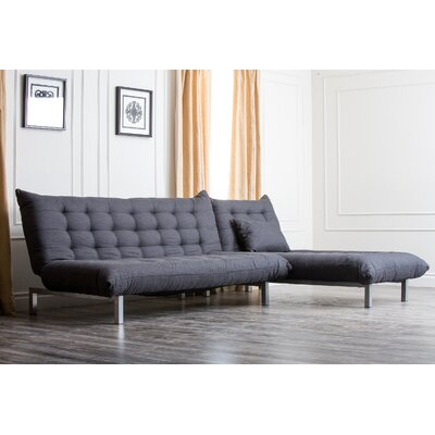 Abbyson Living Bedford Linen Convertible Sectional Sofa