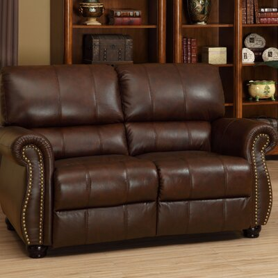 Houston Italian Leather Loveseat