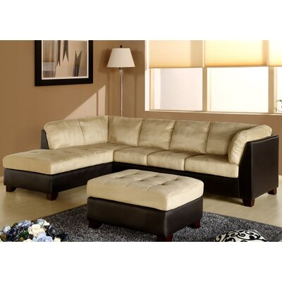 Abbyson Living Charleston Sectional and Ottoman