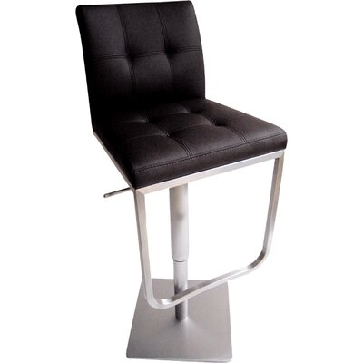 Bellini Modern Living Ferrera Adjustable Swivel Bar Stool with Cushion