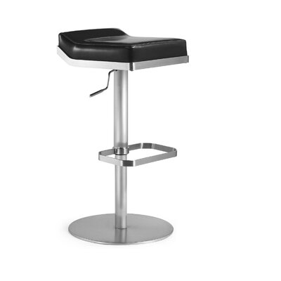 "Bellini Modern Living Dino 24"" Swivel Adjustable Bar Stool with Cushion"