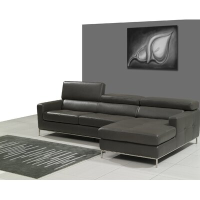 Bellini Modern Living Allison Leather Sectional | Wayfair