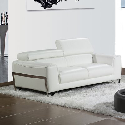 Bellini Modern Living Flynt Leather Loveseat