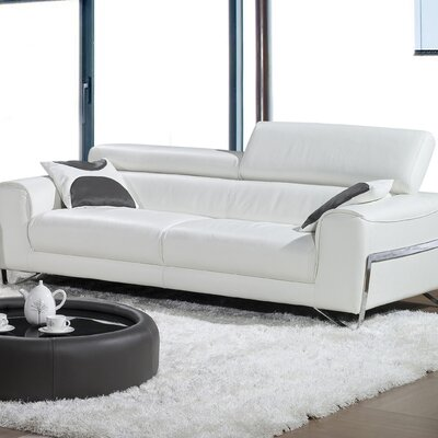Bellini Modern Living Flynt Leather Sofa