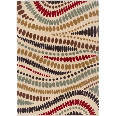 TayseRugs Laguna Beige Abstract Rug