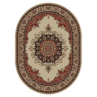 Tayse Rugs Sensation Ivory/Red Rug