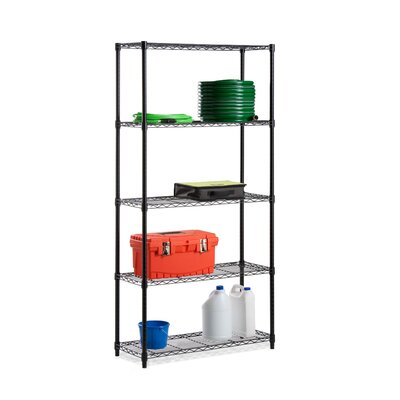 Honey Can Do Five Tier Grid Patterned Storage Shelves in Black