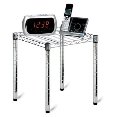 Commercial Grid Style Wire Table in Chrome
