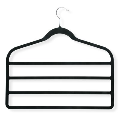Velvet Touch 4 Step Hanger in Black (4 Pack)