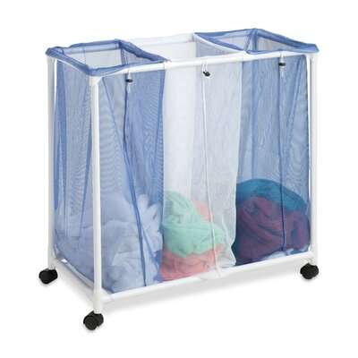 Honey Can Do 3 Bag Mesh Rolling Hamper