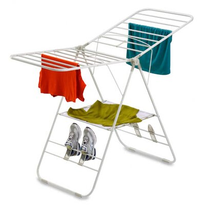 Heavy-Duty Gullwing Drying Rack in White