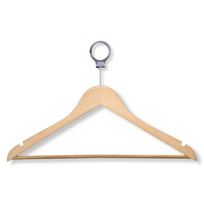 Hotel Suit Hanger in Maple (24 Pack)