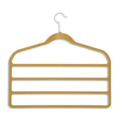 Velvet Touch Four Tier Pant Hanger in Tan and Camel (10 Pack)