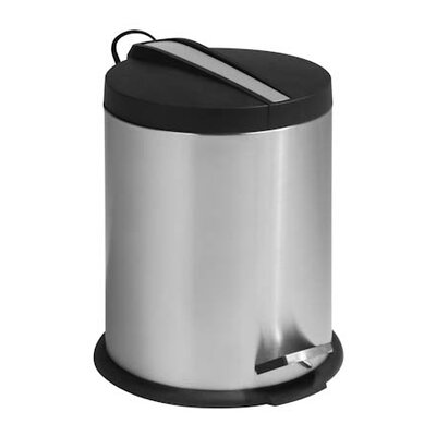 5 Liter Round Step Trash Can with Stainless steel insert