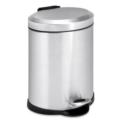 5-Liter Oval Stainless Steel Step Trash Can