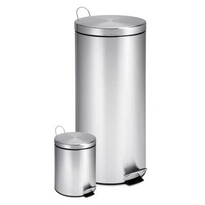 Honey Can Do 30 Liter Stainless Steel Step Trash Can