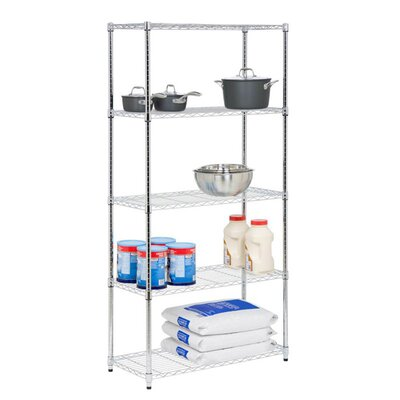 Five Tier Storage Shelves in Chrome