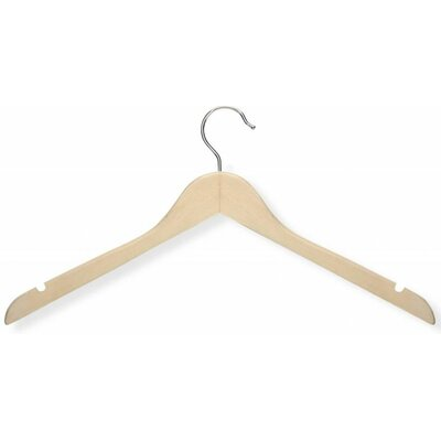 Honey Can Do Basic Shirt Hanger in Maple (20 Pack)