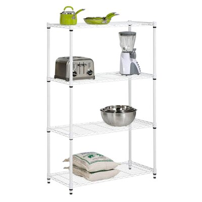 Honey Can Do Four Tier Shelving Unit in White